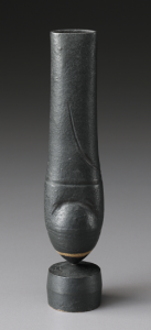 A 1974 'Cycladic' vase covered with smooth black glaze brought $22,500 in the Stern Collection sale. Phillips image