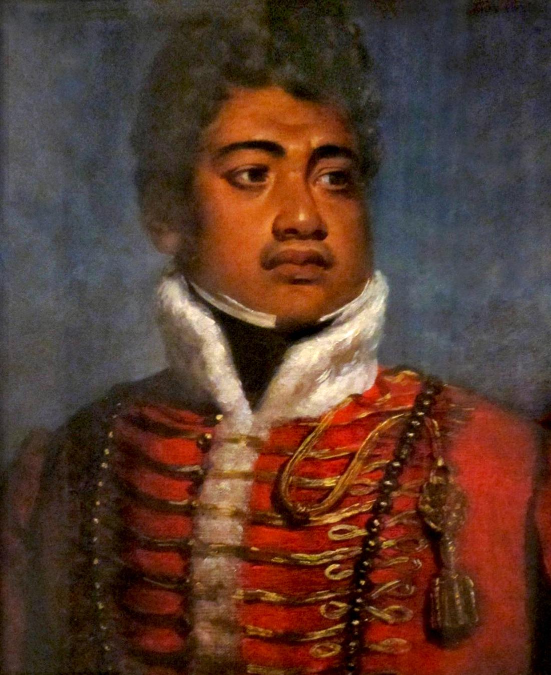 Portrait of King Kamehameha II of Hawaii attributed to John Hayter, 1824, Iolani Palace. Image courtesy of Wikimedia Commons.