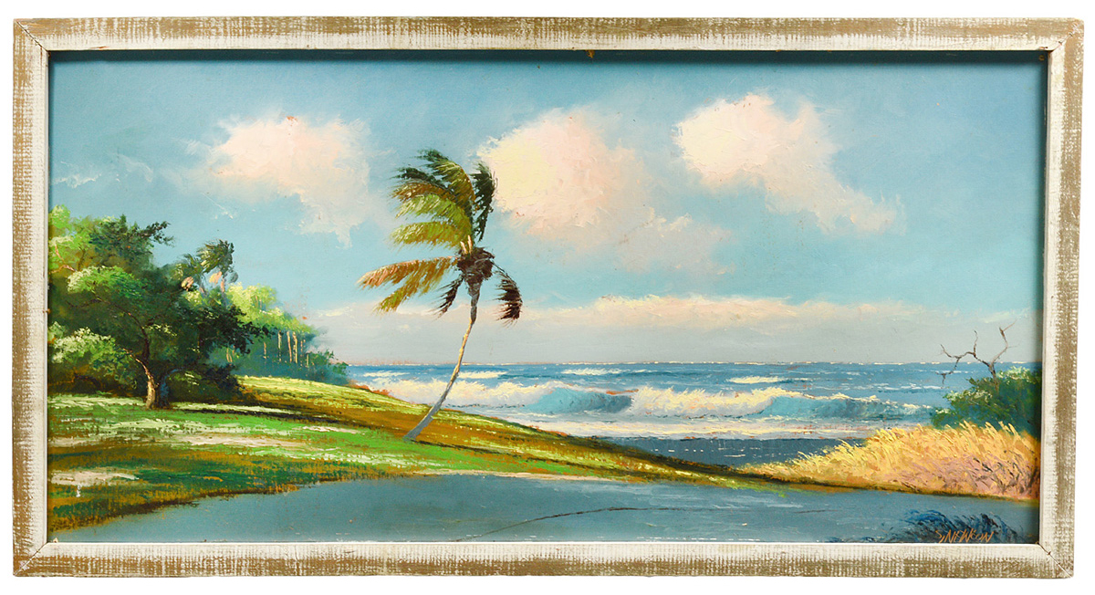 Painting by Florida 'Highwayman' Sam Newton. Auction Gallery of the Palm Beaches image