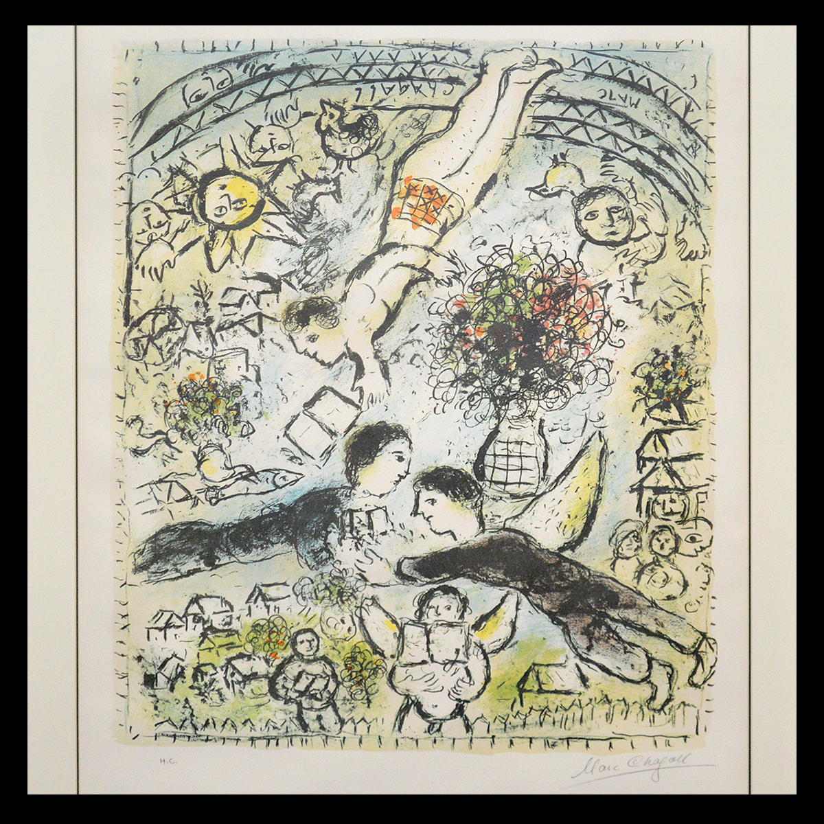Marc Chagall (Russian/French, 1887-1985, 'The Sky,' artist signed. Auction Gallery of the Palm Beaches image