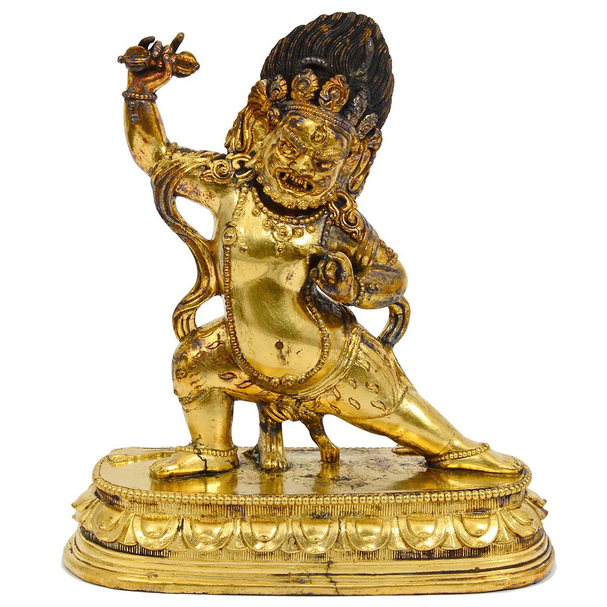 18th century Mongolian gilt bronze Vajrapani Bodhisattva. Auction Gallery of the Palm Beaches image