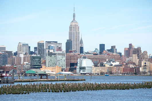 The Empire State Building and the new Whitney (white building in foreground to the right of the ESB). Photograph by Tim Schenck