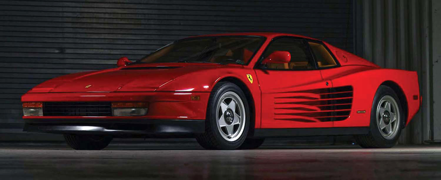 1988 Ferrari Testarossa, Rosso red with tan leather, all original, flat 12-cylinder engine, 22,400 miles. Estimate $80-000-$100,000. Morphy Auctions image