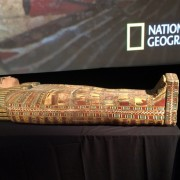 On Sept. 8, 2009, HSI New York recovered the 2,600-year-old nesting sarcophagus from a garage in Brooklyn, New York. One year later, on Sept. 24, 2010, following leads from the Brooklyn case, U.S. Customs and Border Protection officers at Detroit Metropolitan Airport seized a shipment of smuggled Egyptian goods, including a funerary boat model and figurines. US Immigration and Customs Enforcement images.