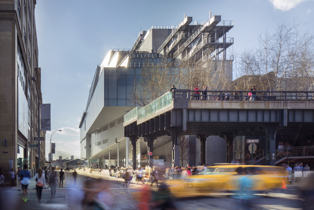 Situated between the High Line and the Hudson River in Manhattan's Meatpacking District, the new building will vastly increase the Whitney's exhibition and programming space, offering the most expansive display of its unsurpassed collection of modern and contemporary American art. Photo copyright Nic Lehoux