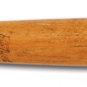 Mickey Mantle's 1950-issued H&B Louisville Slugger bat sold for $242,209. SCP Auctions image