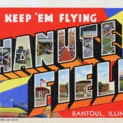 A 1940s postcard from Chanute Field in Rantoul, Ill. Image courtesy of Wikimedia Commons.