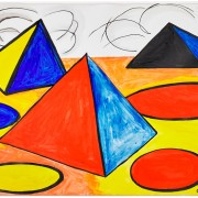 Alexander Calder, 'Nuages,' 1976, gouache and ink on paper (framed), signed, dated and titled; 29in x 43in. Estimate: $70,000-$90,000. Rago Arts and Auction Center images