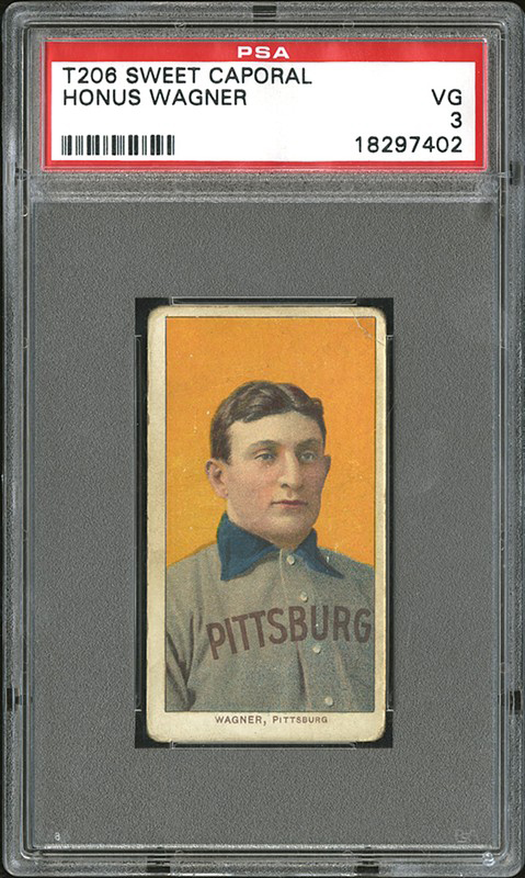 This T206 Honus Wagner baseball card sold for $1.32 million. Robert Edward Auctions image