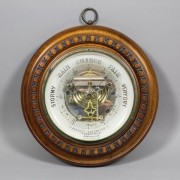 Late Victorian aneroid barometer by J. Casartelli, Manchester, England, valued at 200-300 pounds ($305-$458). Photo The Canterbury Auction Galleries