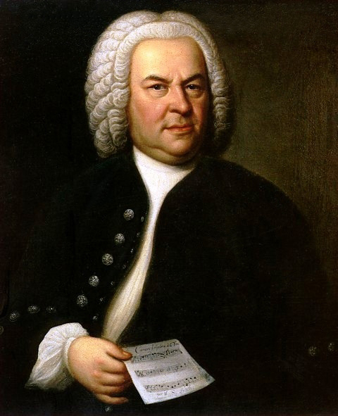 Portrait of Johann Sebastian Bach by Elias Gottlob Haussmann (German, 1695 –1774). Image courtesy of Wikimedia Commons