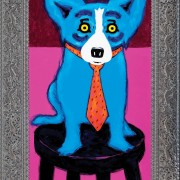 The $173,275 realized for 'Chairman of the Board' represents a record price for a work by George Rodrigue at auction. Neal Auction Co. images