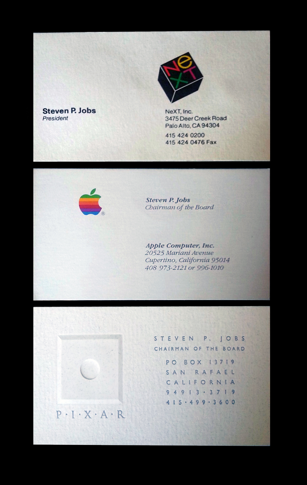 Bidders bullish on Steve Jobs business cards in benefit auction