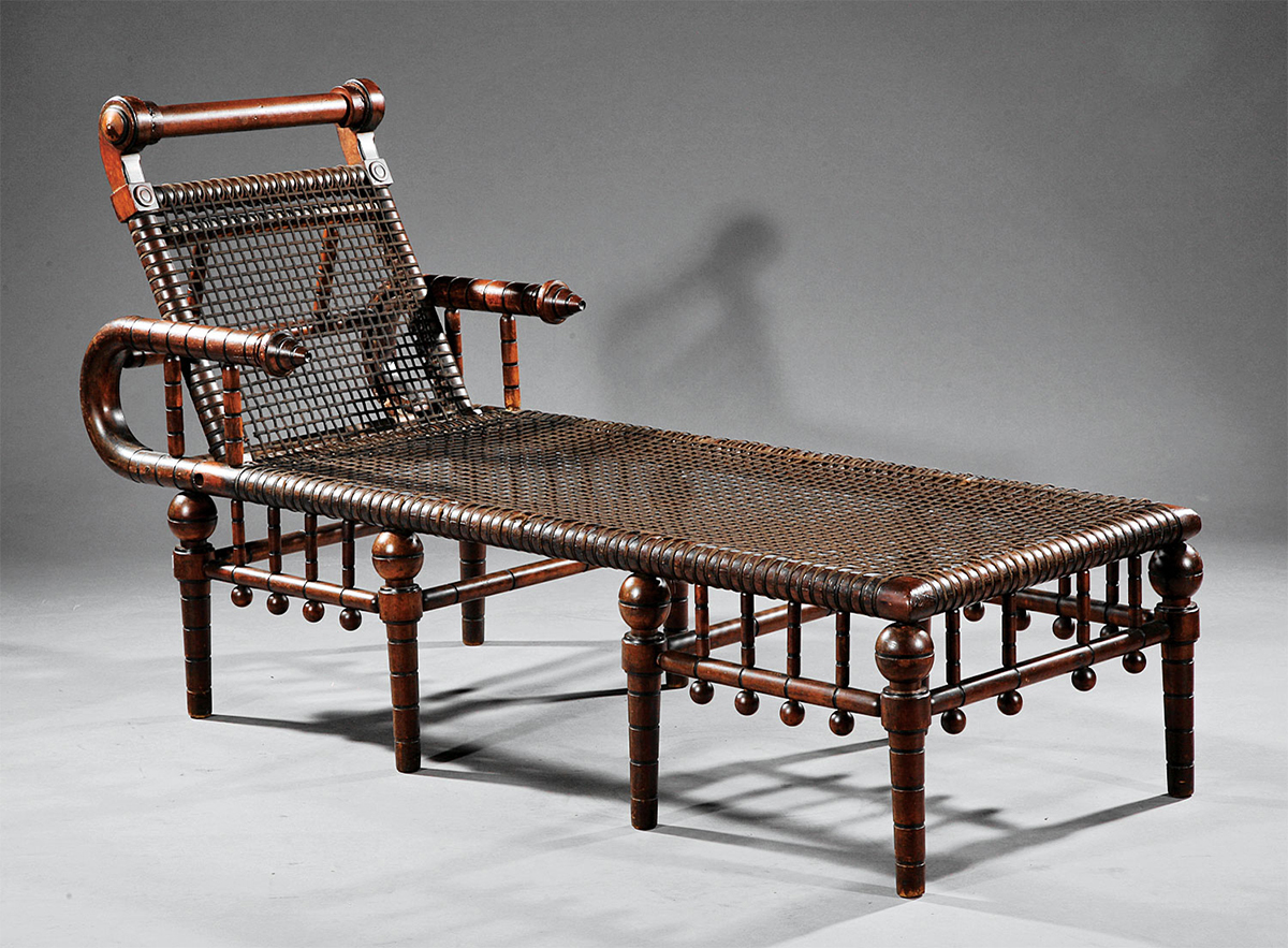 Neal auction co of new orleans sold this victorian hunzinger chair in january for 7768