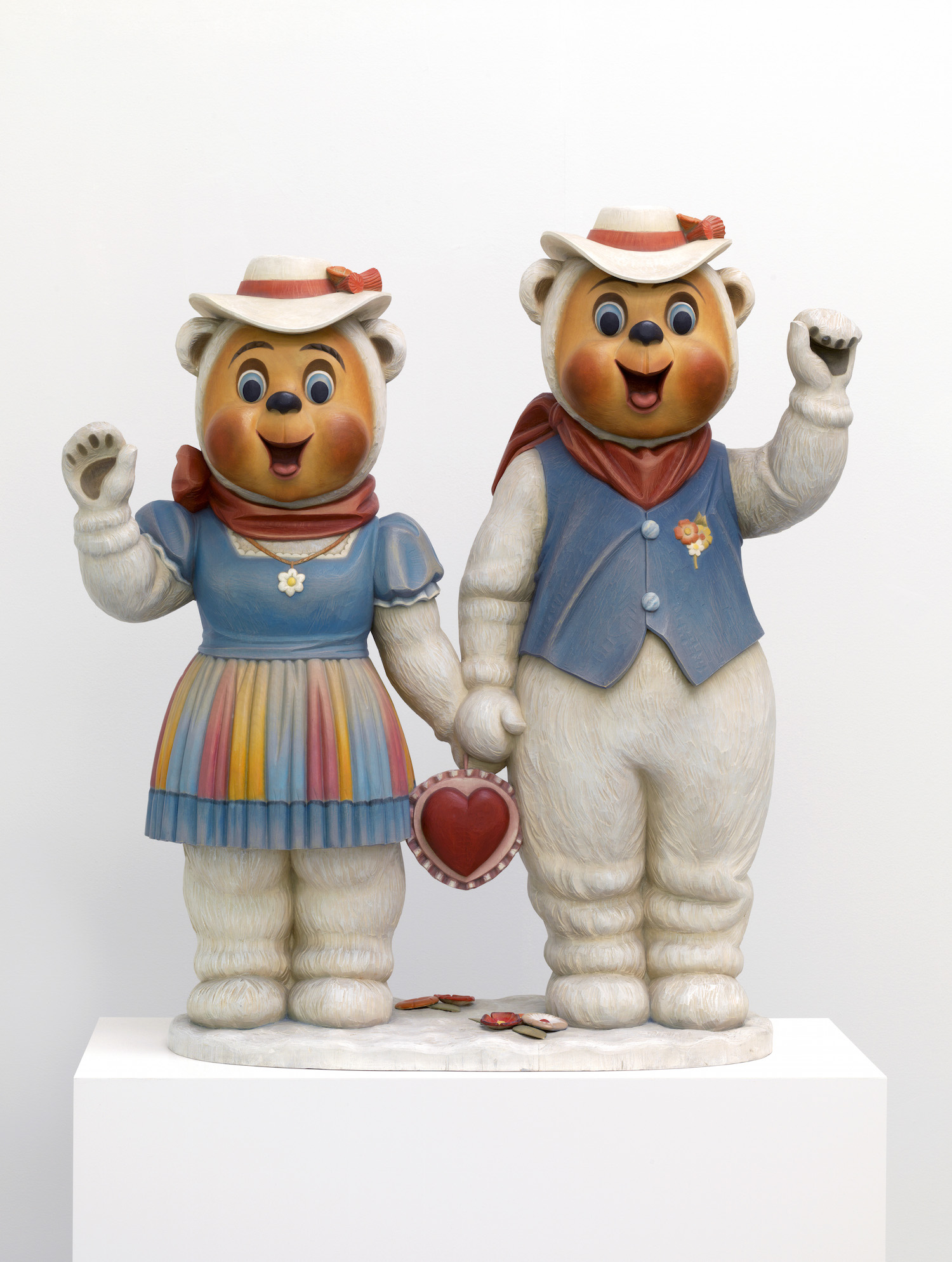 Jeff Koons, Winter Bears, 1988. Artist Rooms, Tate and National Galleries of Scotland. Acquired jointly through The d'Offay Donation with assistance from the National Heritage Memorial Fund and the Art Fund 2008, © Jeff Koons. Image courtesy Norwich Castle Museum and Art Gallery