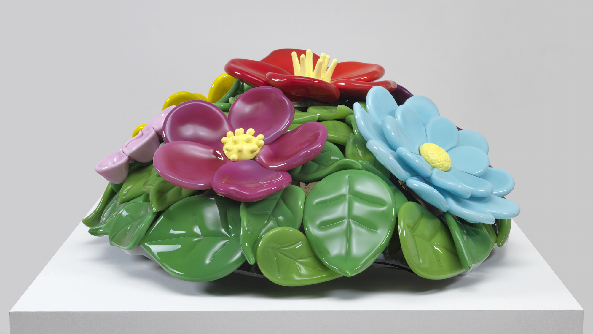 Jeff Koons, Mound of Flowers, 1991, Artist Rooms, Tate and National Galleries of Scotland. Acquired jointly through The d'Offay Donation with assistance from the National Heritage Memorial Fund and the Art Fund 2008, © Jeff Koons. Image courtesy Norwich Castle Museum and Art Gallery.
