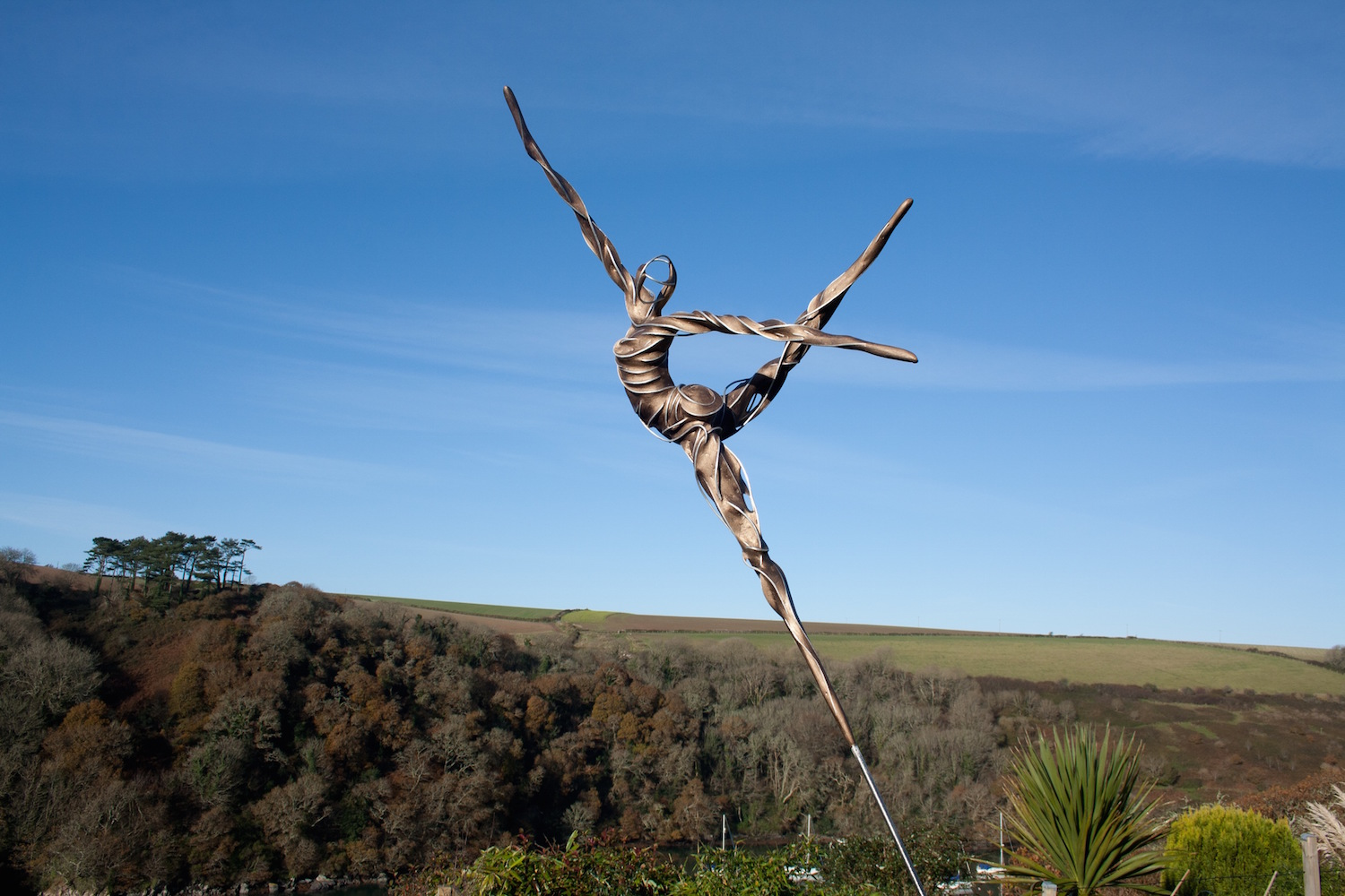Among the contemporary works at the new Petworth Park Antiques and Fine Art Fair this month will be this outdoor sculpture by Penny Hardy titled 'Joie de Vivre,' to be shown by local West Sussex art dealers Moncrieff Bray Gallery, priced at £1,500 ($2,275).