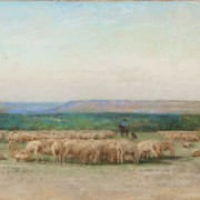 Frank Reaugh's 'Sheepherders Camp' set a record for the Texas artist, selling for $437,000 at the May 16 Texas Art auction in Dallas. Heritage Auctions images