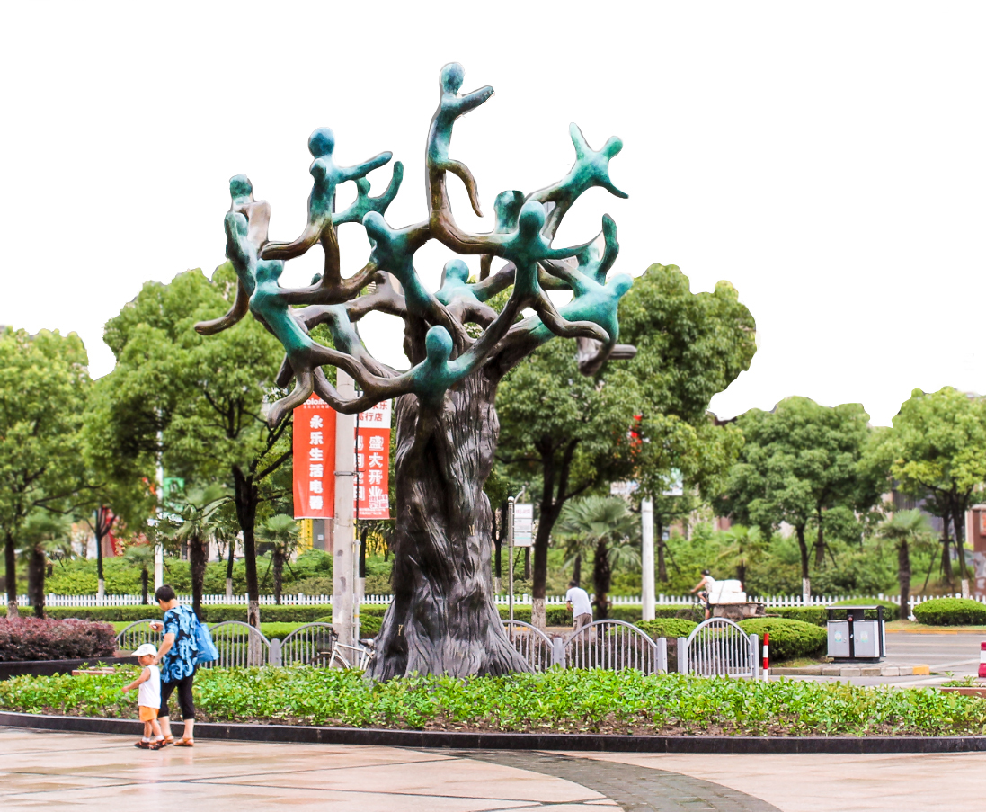 Beatriz Gerenstein (American), 'Harmony of the People,' 23ft bronze. Image courtesy of the artist