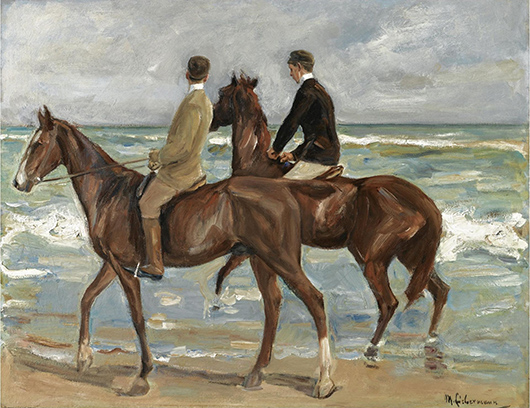Max Liebermann's 'Two Riders on the Beach.' Image courtesy of Wikimedia Commons.