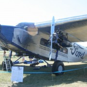 A 1927 4-AT-A Ford Tri-Motor airplane similar to the one acquired by the Liberty Aviation Museum. Image by Bzuk, courtesy of Wikimedia Commons