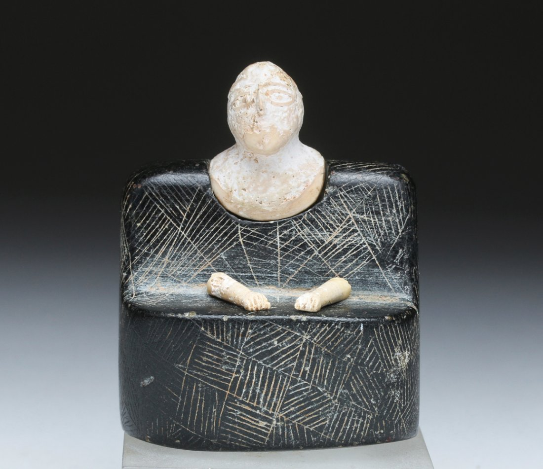 Bactrian composite stone idol, central Asia, circa late 3rd to early 2nd millennium BCE, ex Jabari collection, estimate $8,000-$12,000. Artemis Gallery image