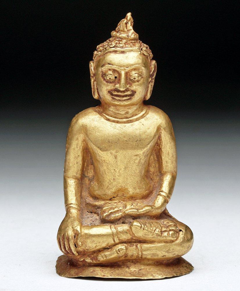 Burmese high-karat gold Buddha figurine, circa 12th century CE, estimate $20,000-$30,000. Artemis Gallery image