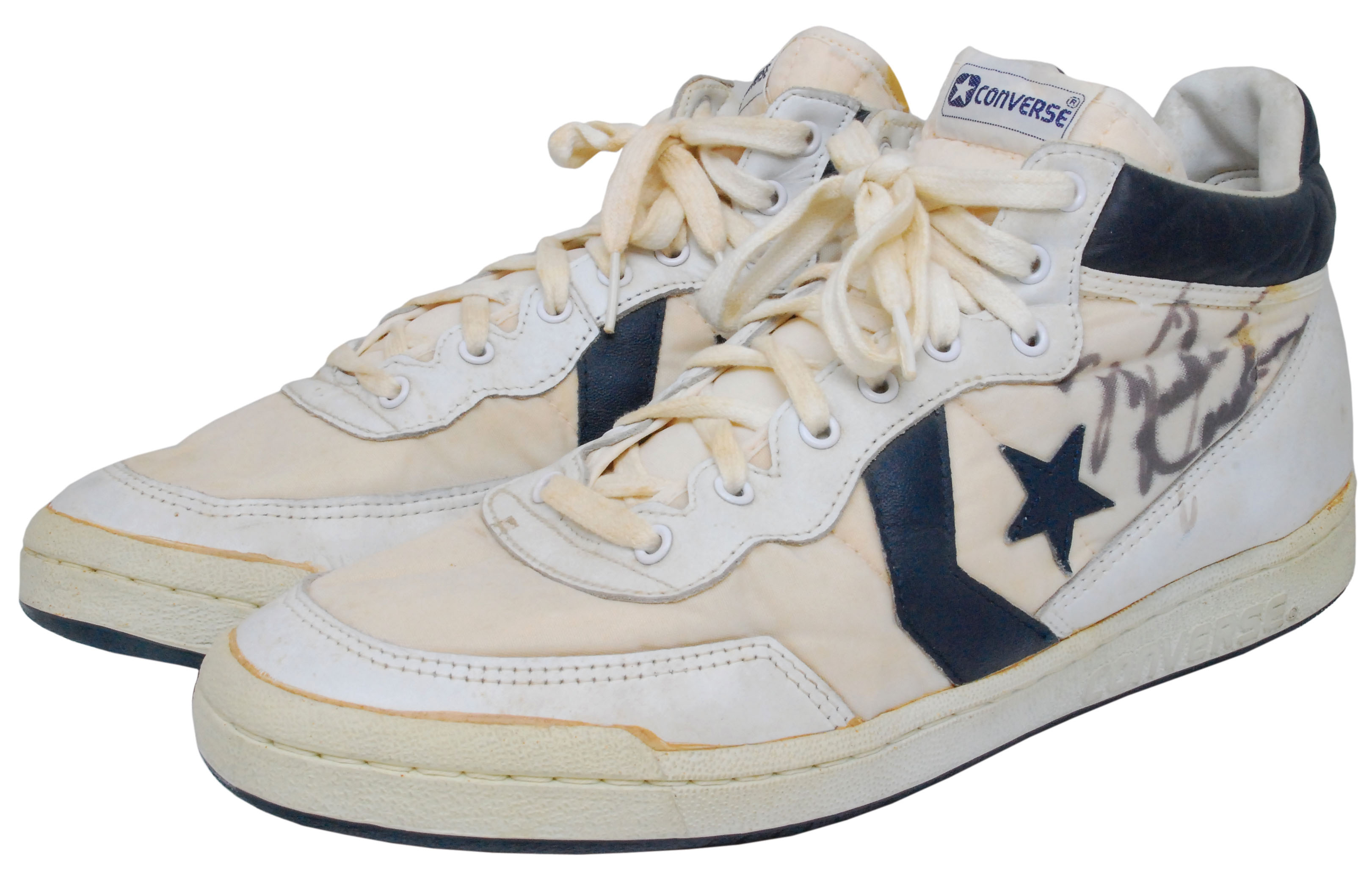 Michael Jordan's game-used, autographed Converse basketball shoes from the 1984  Olympics in Los