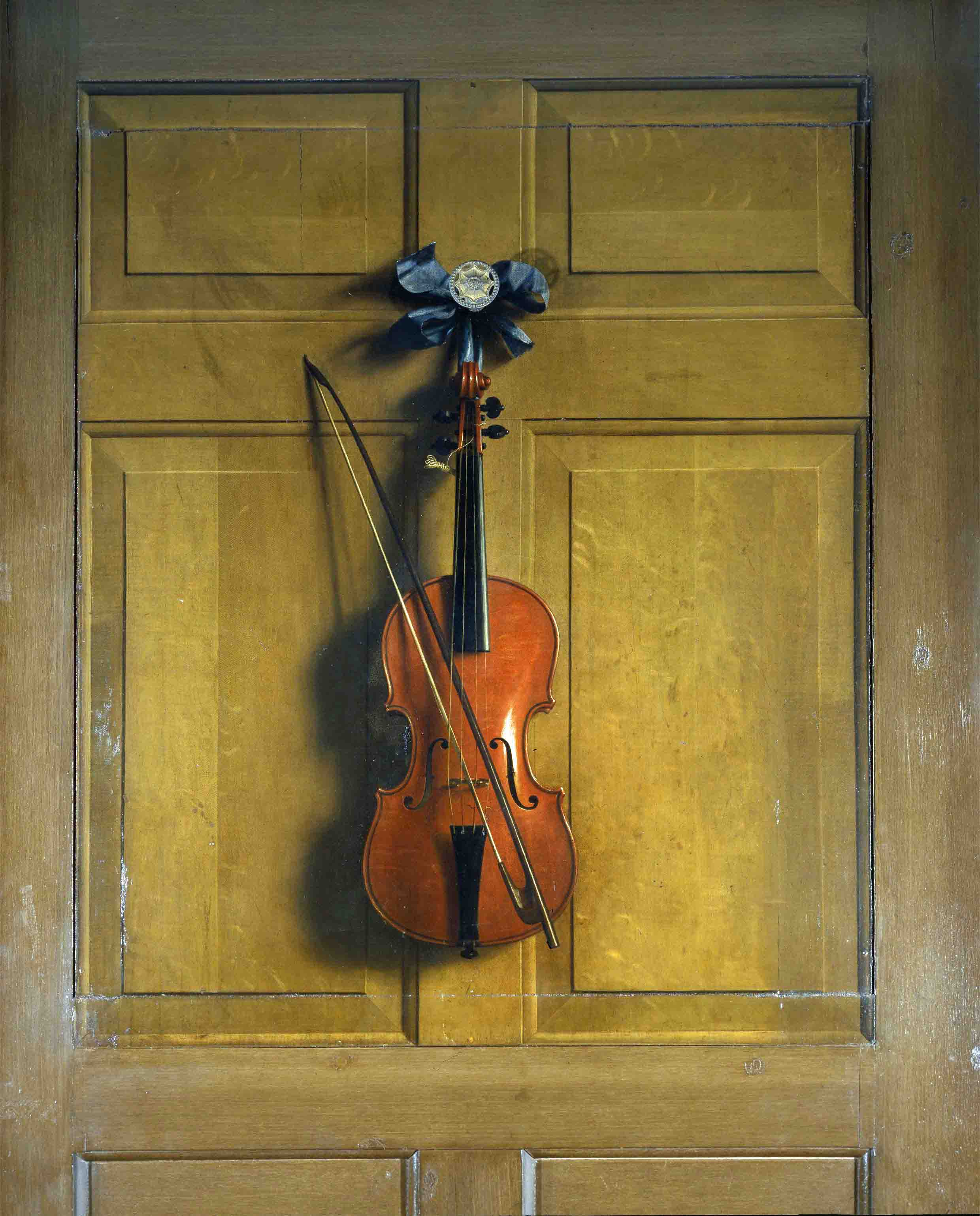 The Chatsworth House Violin Which Hangs From Back Of Door To