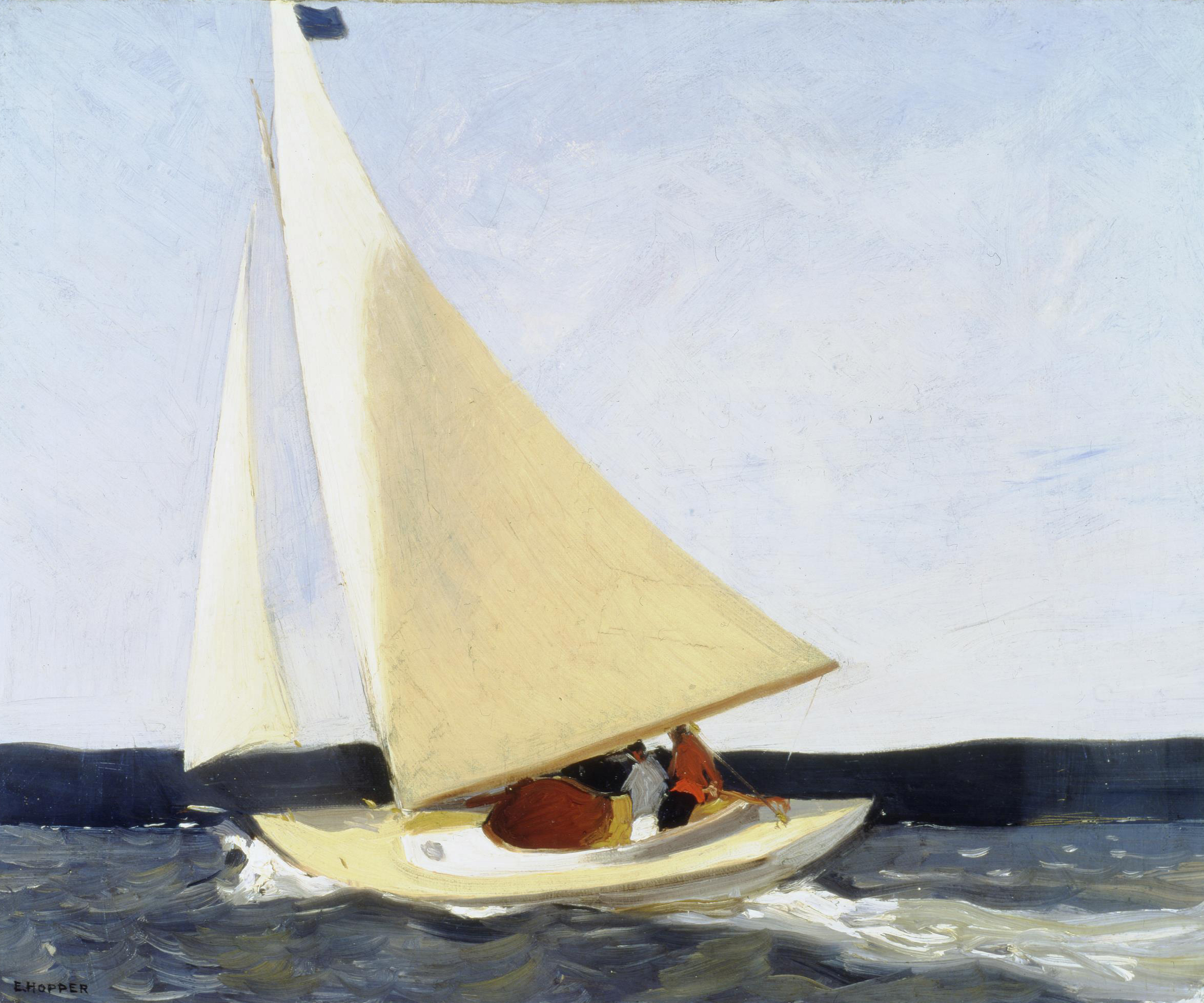Edward Hopper, 'Sailing,' 1911, oil on canvas; gift of Mr. and Mrs. James H. Beal in honor of the Sarah Scaife Gallery. Courtesy of Carnegie Museum of Art