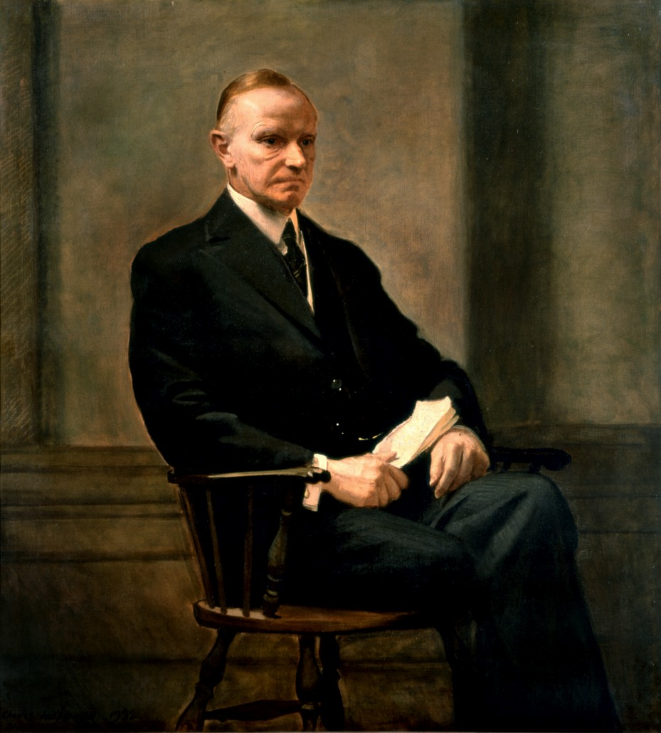 Official portrait of President Calvin Coolidge. Image courtesy of Wikimedia Commons.