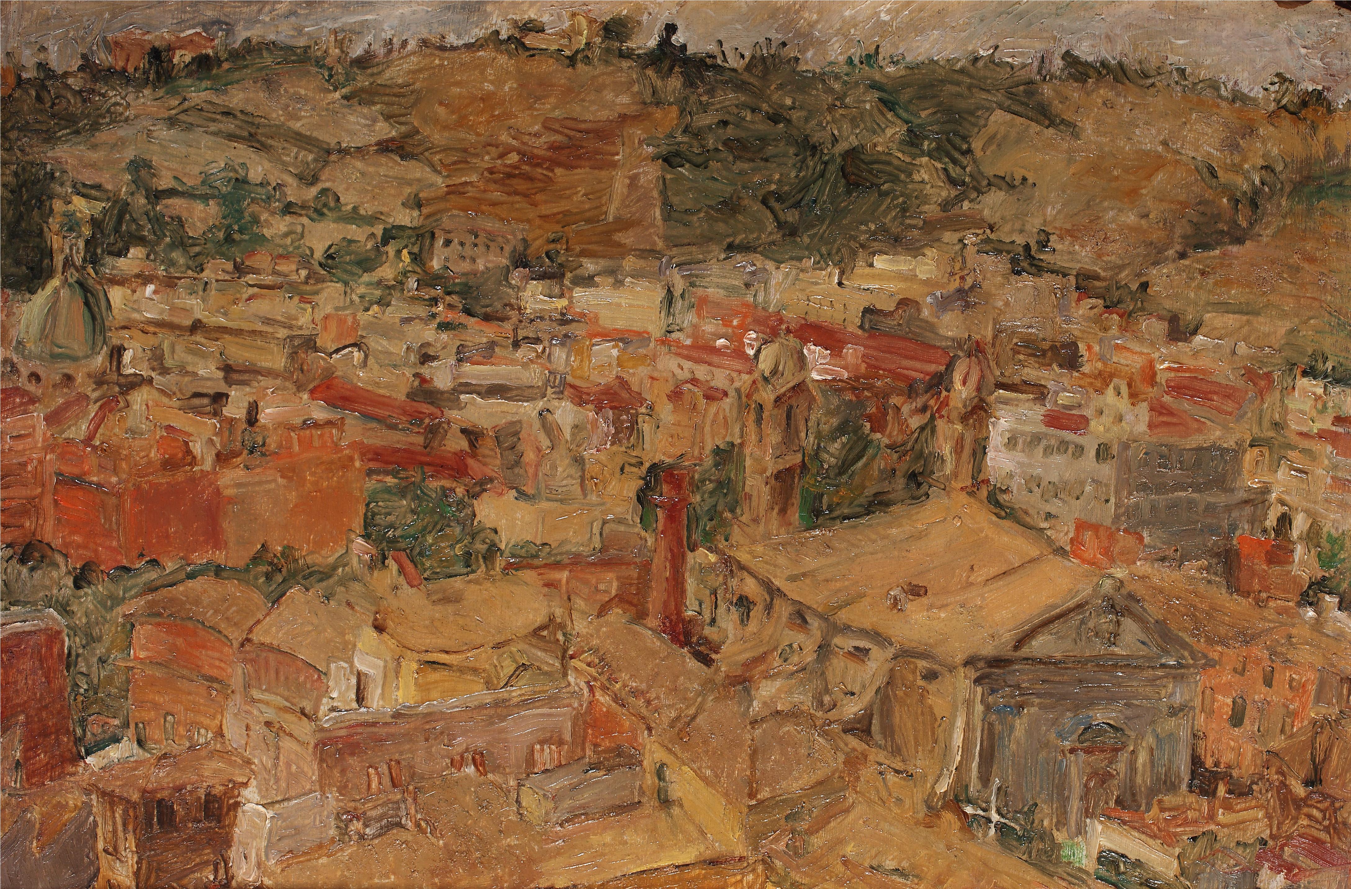 Paesaggio di Fausto Pirandello, Courtesy Galleria Russo
