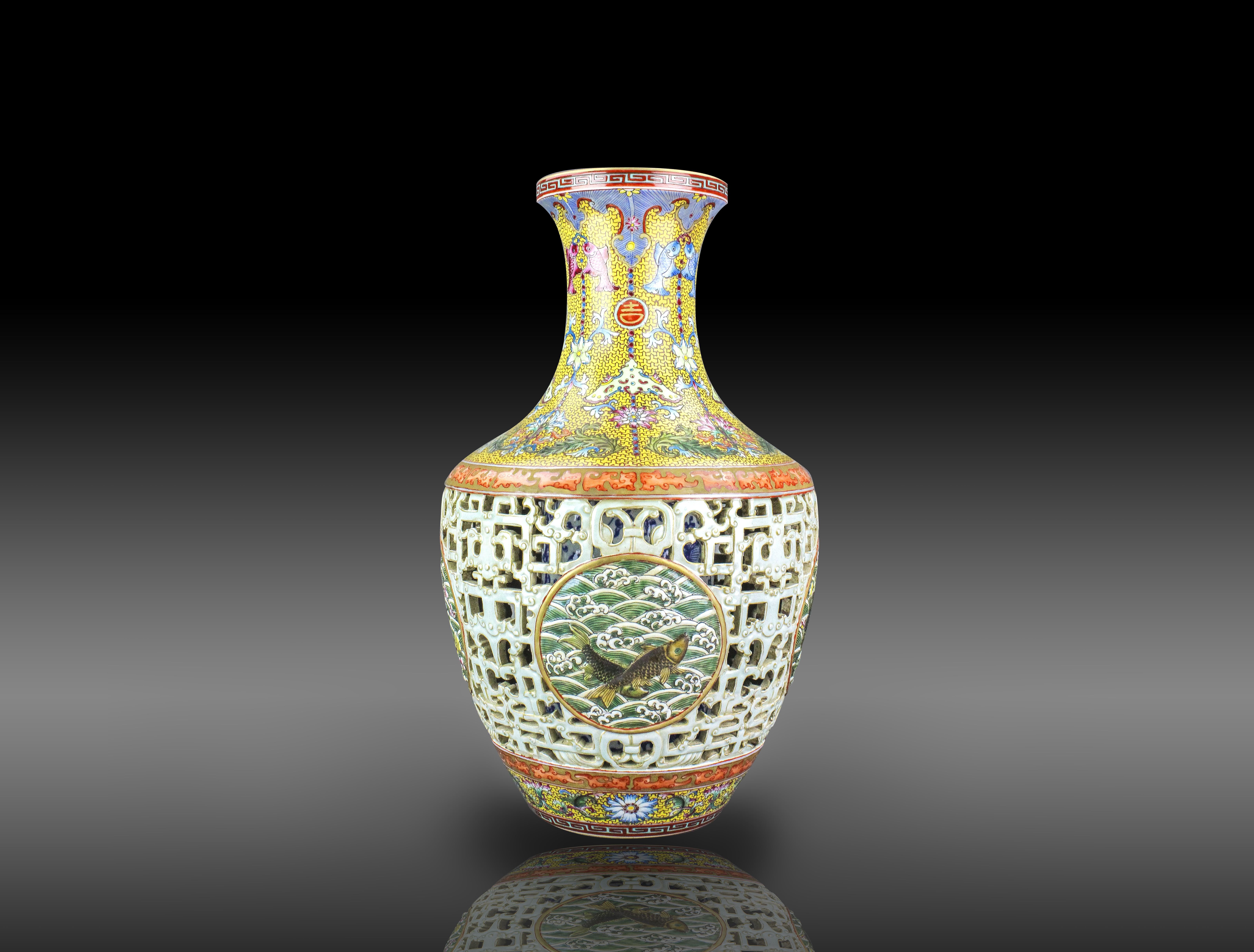Qianlong vase headlines 888 auctions chinese art sale july 16 this chinese porcelain reticulated vase bearing the imperial mark of qianlong stands 16 12 reviewsmspy