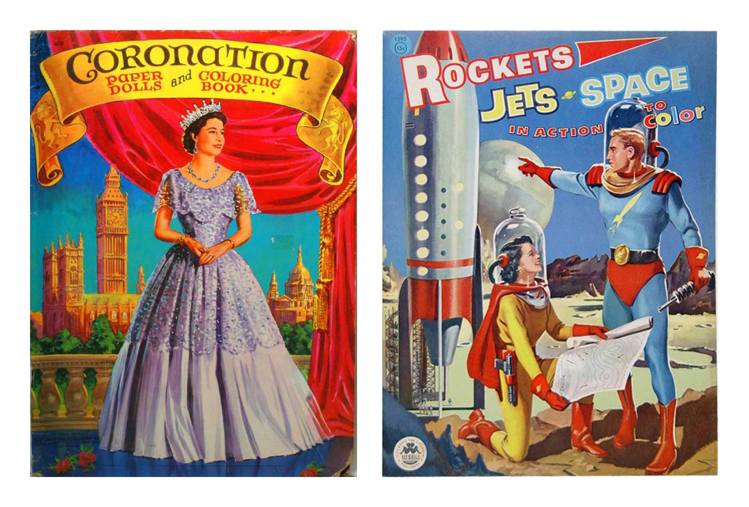 The Coronation Of Elizabeth II Is Celebrated In This 1953 Paper Dolls Coloring