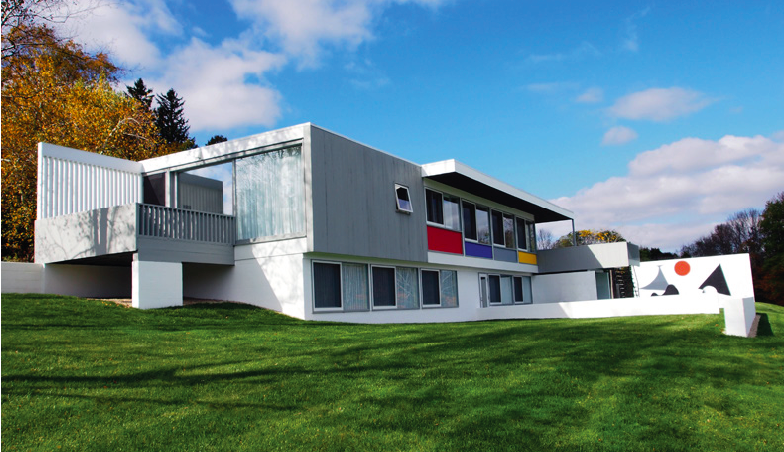 The Stillman House by Marcel Breuer will be sold Nov. 19 in Wright's Design Masterworks auction. The house in Litchfield, Connecticut, is available for viewing by appointment.