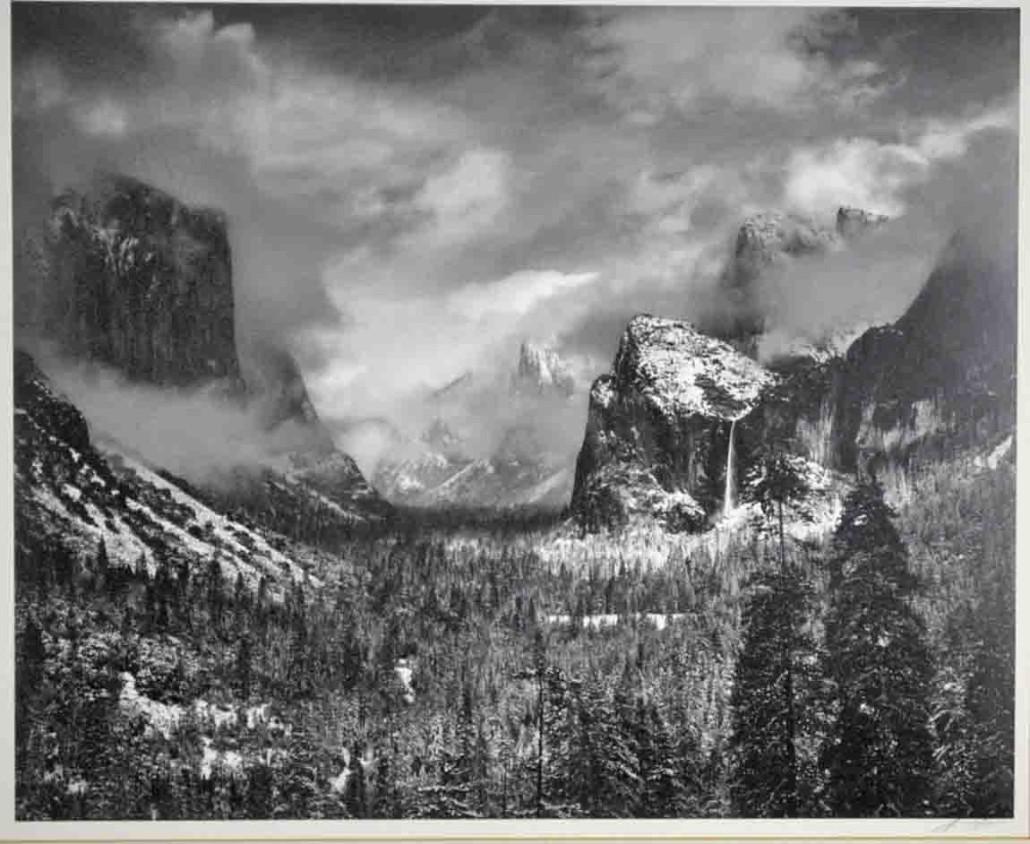 Ansel Adams 'Clearing Winter Storm, Yosemite Valley.' Hammer price: $30,000. Leighton Galleries image
