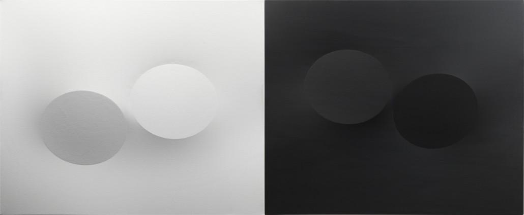Turi Simeti, 'Diptych, 2015,' 100cm x 240cm. Courtesy Dep Art Gallery