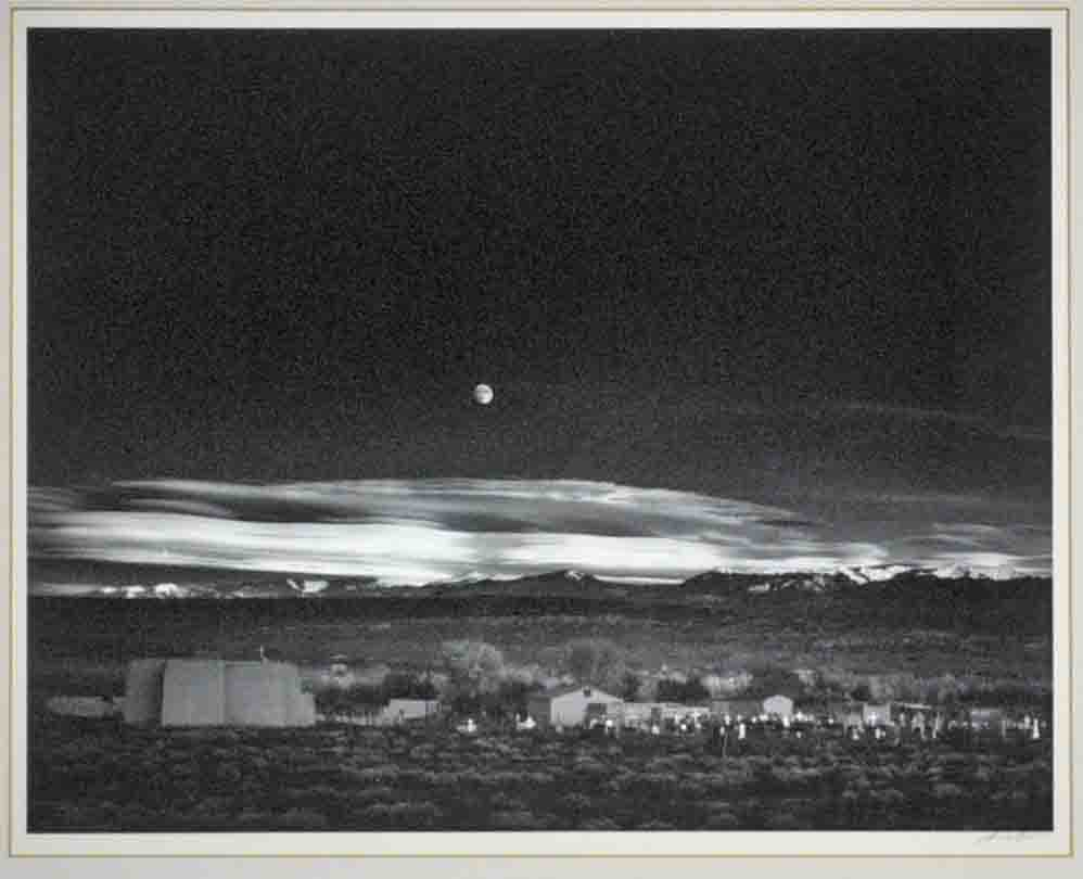 Ansel Adams 'Moonrise, Hernandez, New Mexico.' Hammer price: $35,000. Leighton Galleries image