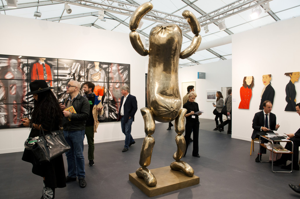 Galerie Thaddaeus Ropac at last year's Frieze Fair. Photograph by Linda Nylind. Image courtesy of Linda Nylind/Frieze