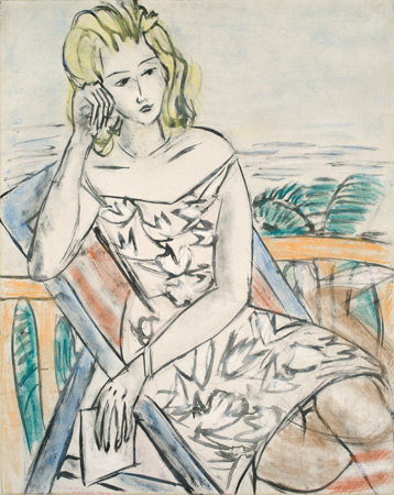 'Picture of a Young Girl' by Max Beckmann, 1939, oil and pastel on canvas from the Nov. 25-28 sale at Villa Grisebach. Photo courtesy of the auction house.