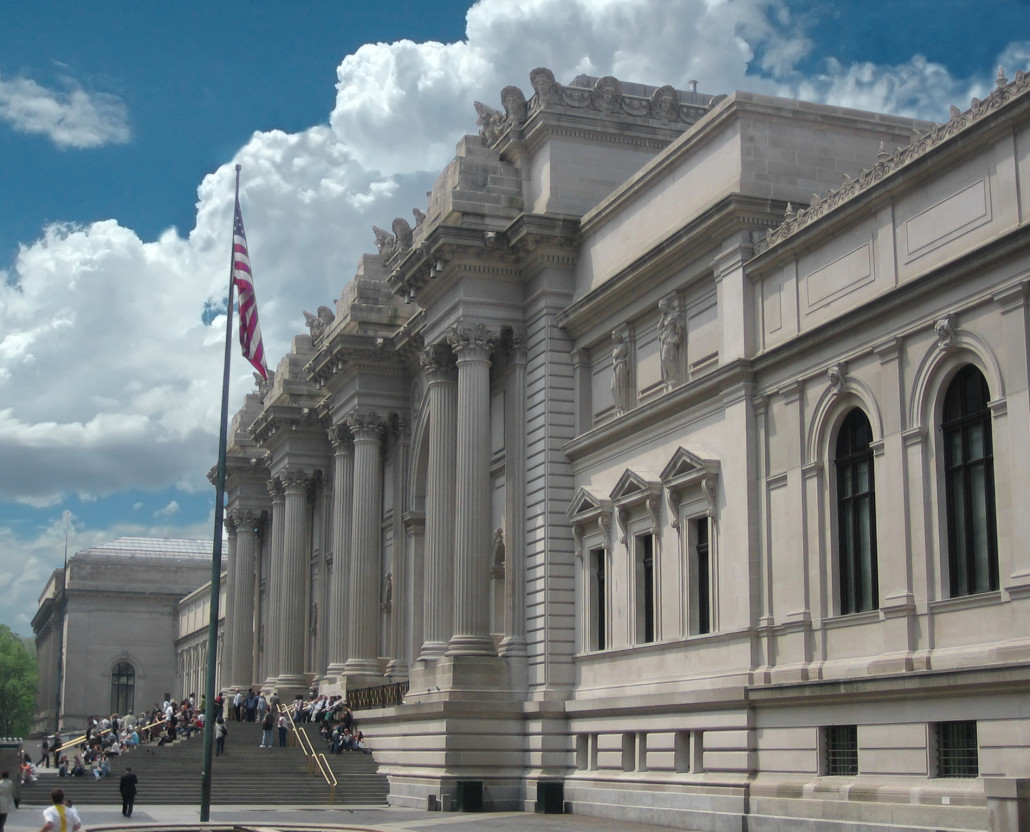 Entrance to Metropolitan Museum of Art in New York City. Photo by Arad, licensed under the Creative Commons Attribution-Share Alike 3.0 Unported license.
