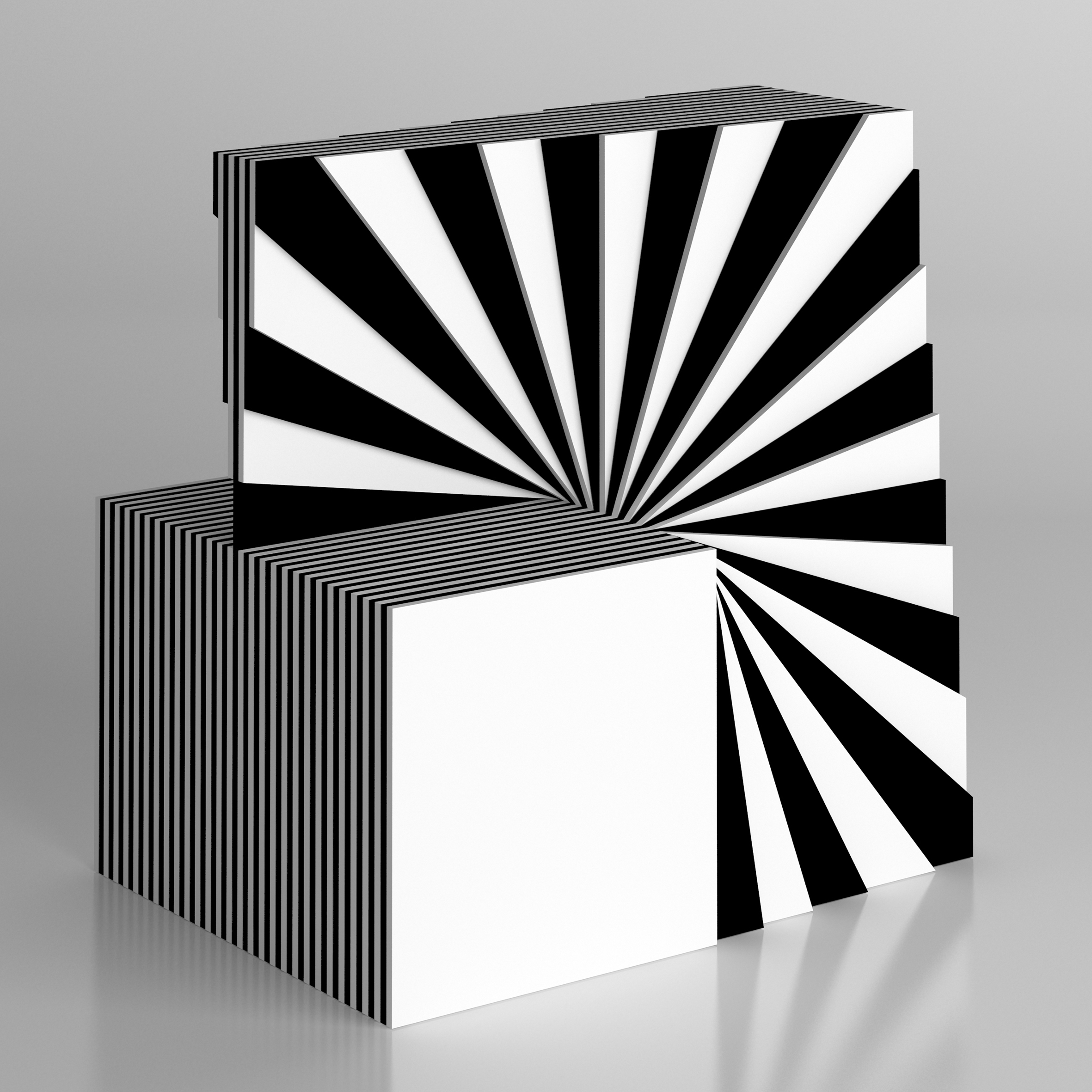 Marcello Morandini, Scultura 572 / 2011, plexiglas, cm 30x30x16,5, edizione 9 esemplari, Courtesy Cortesi Gallery