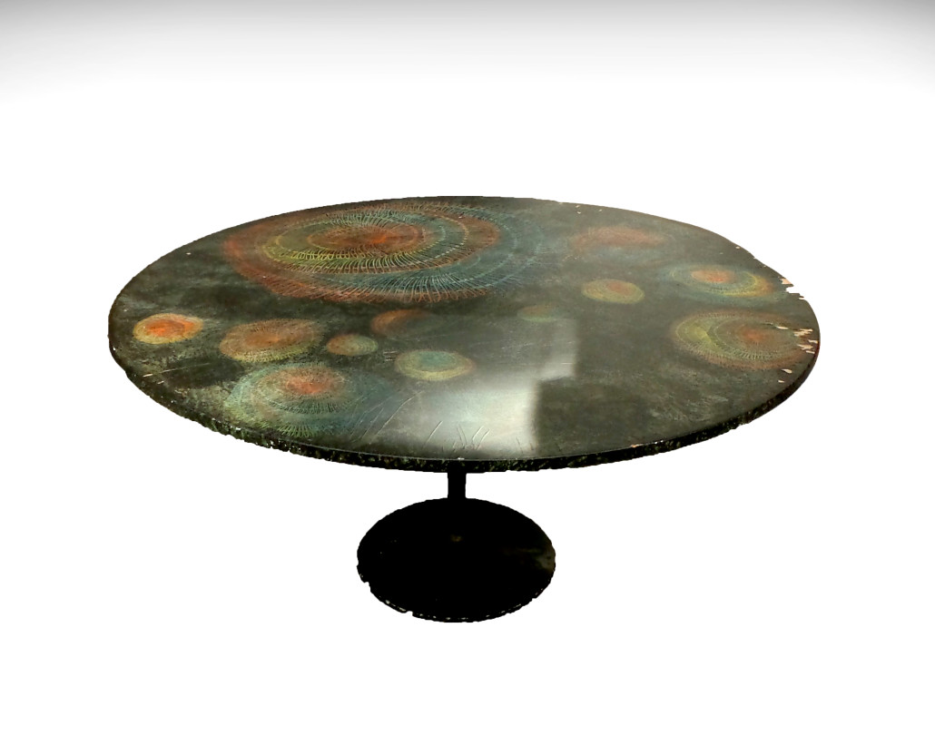 Lot 10 - Piero Fornasetti table. Estimate: $2,000 - $4,000. Roland Auctions NY image
