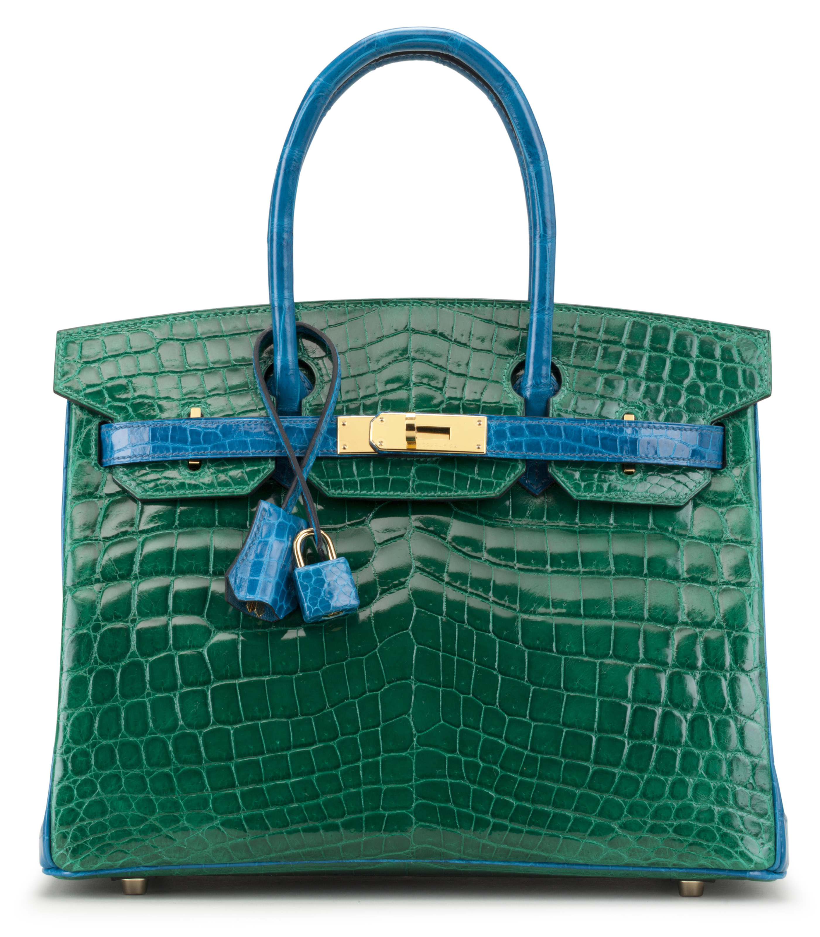 0ef1bf3667 Special order Hermes Birkins attract collectors  interest – here a 30cm  Horseshoe Stamp Shiny Vert