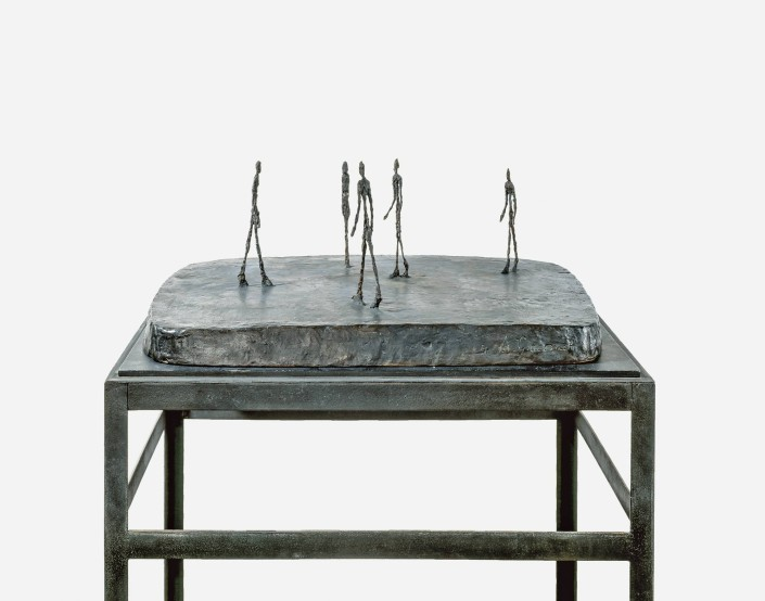 "Alberto Giacometti, ""Place"", 1948-1949, Bronze, 21 × 63.5 × 44 cm, Emanuel Hoffmann-Stiftung, Depositum in der Öffentlichen Kunstsammlung Basel, © Succession Alberto Giacometti / 2015, ProLitteris, Zurich, Foto: Martin P. Bühler, Öffentliche Kunstsammlung Basel On show at ""Future Present"", from Jun.13, 2015 to Jan.31, 2016"