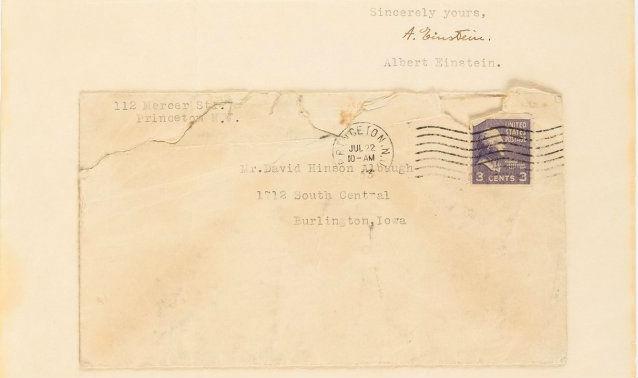 Einstein letter reveals