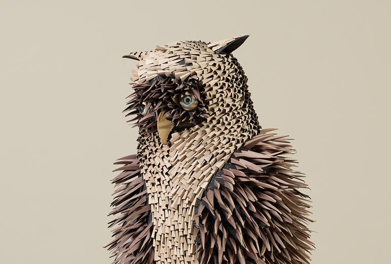 Irving Harper paper sculptures