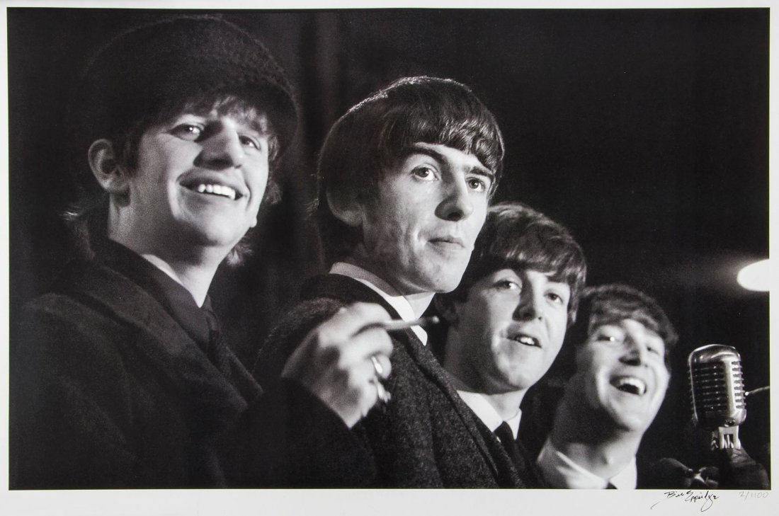 Photographic Print Of The Beatles By Bill Eppridge Signed Image Courtesy