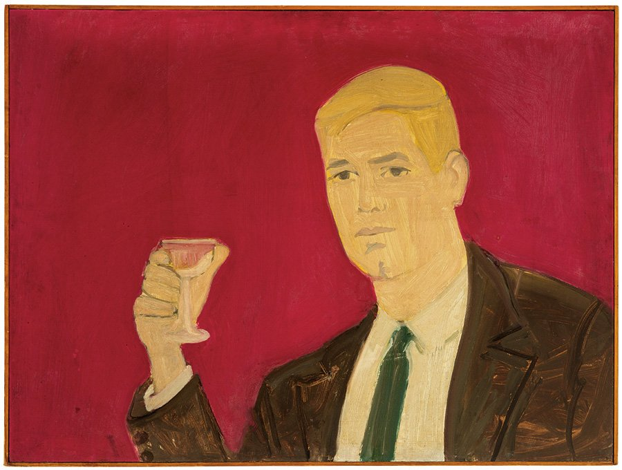 Alex Katz, 'Here's to You,' brought $162,500. Los Angeles Modern Auctions image