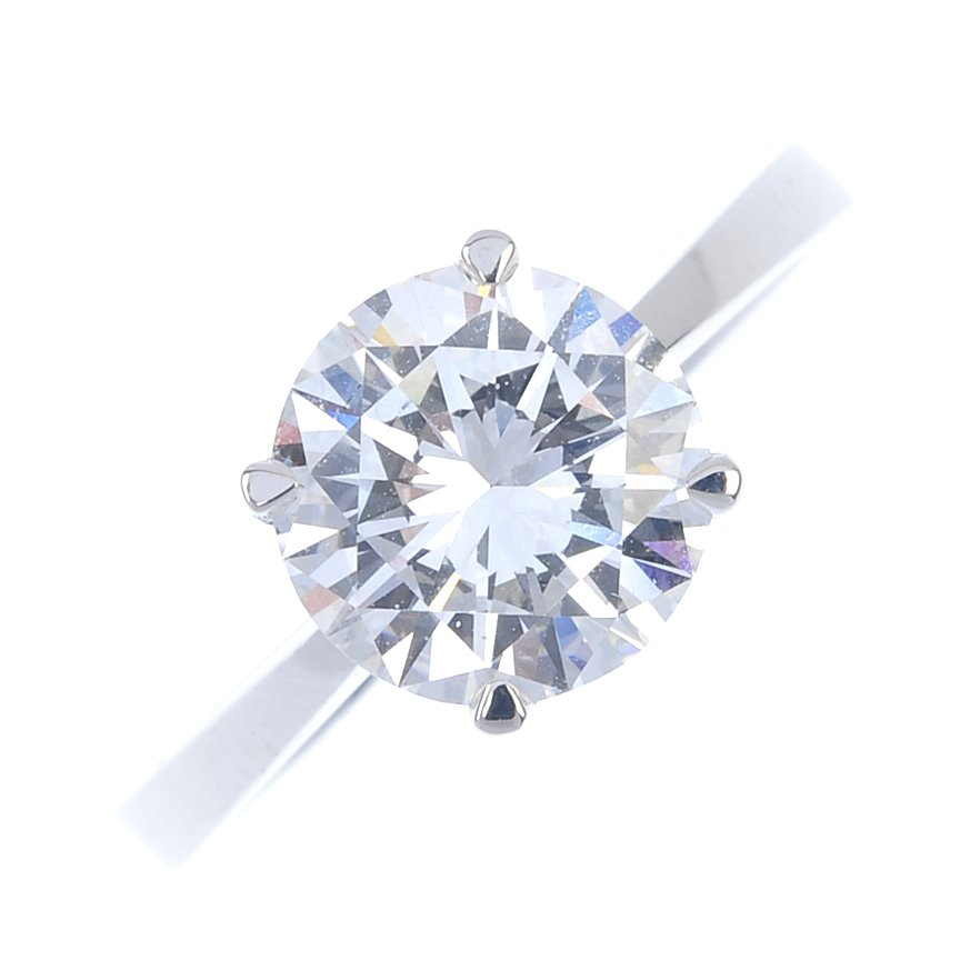 This 2-carat diamond solitaire ring has a £10,000-£15,000 estimate. Fellows image
